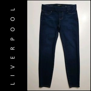 Liverpool Women Pull Up Denim Legging Jeans 10